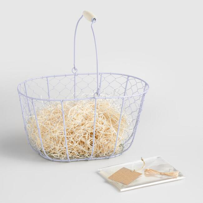 Easter basket ideas best new things bunny 2018 wire lavender