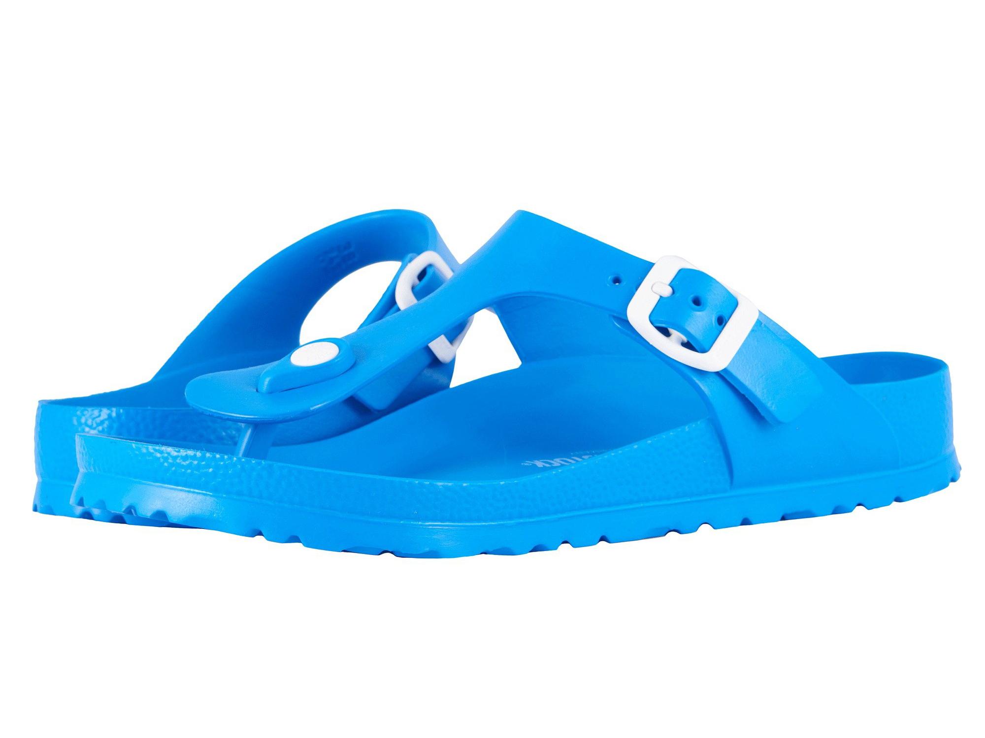 blue birkenstocks