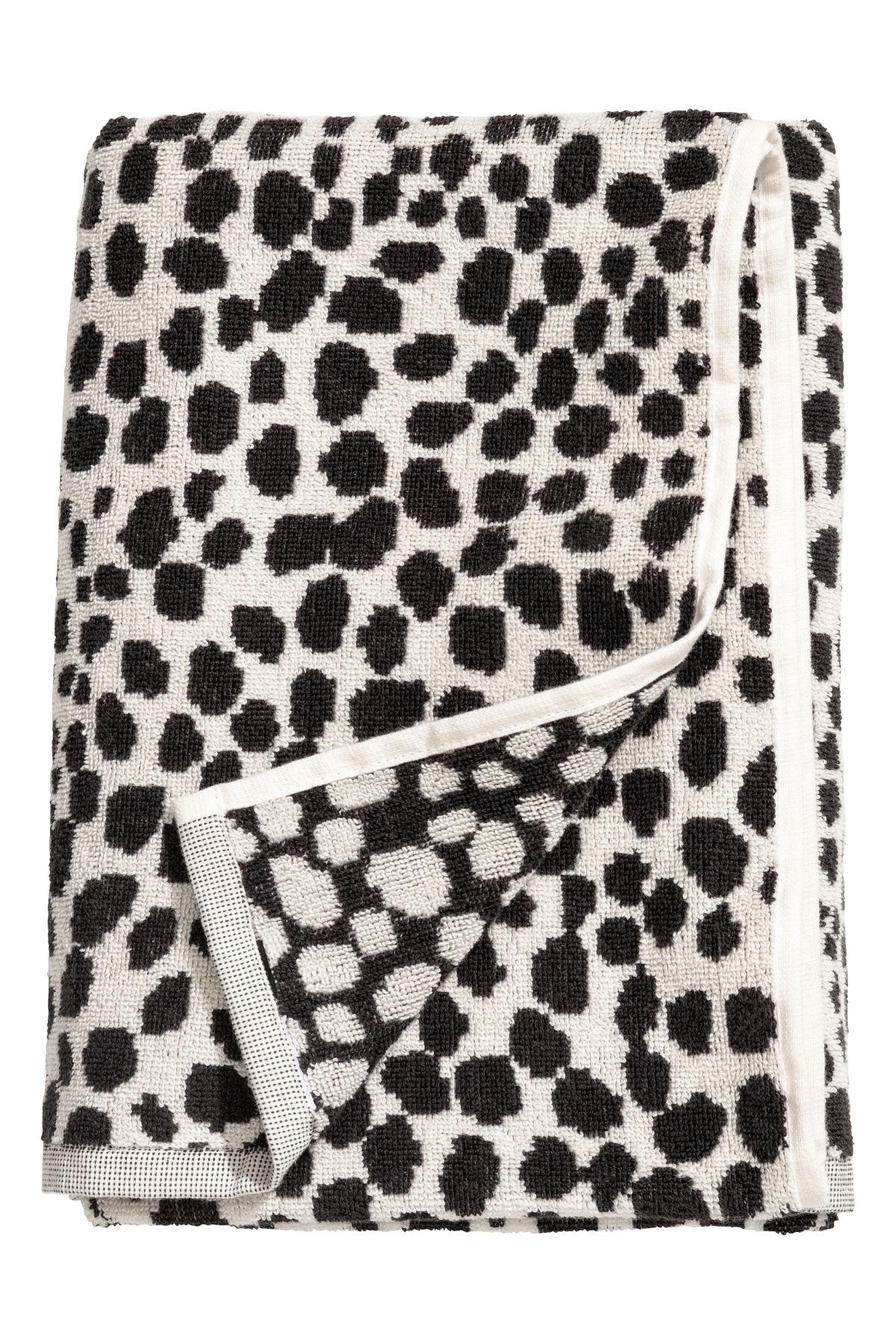 best towels bath accessories h&m home bath towel Jacquard-weave