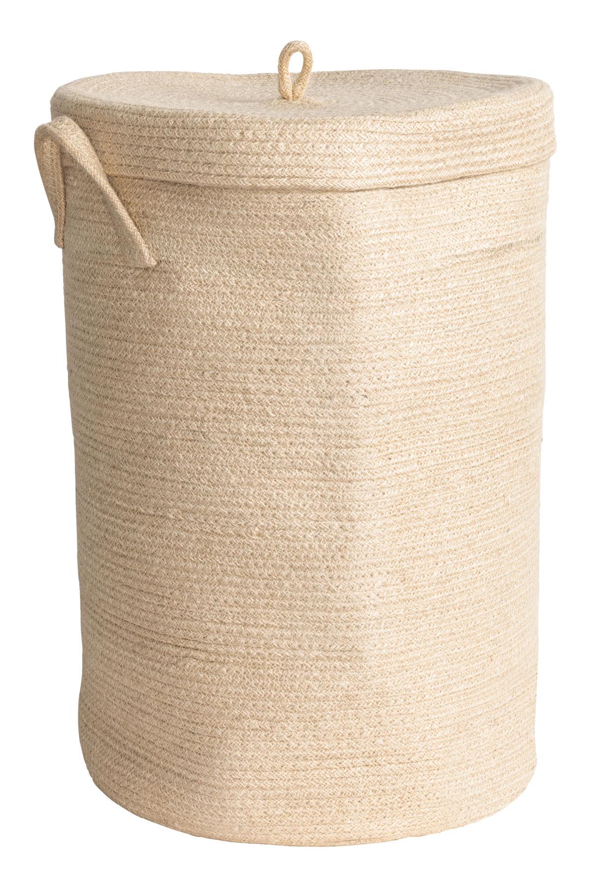 best towels bath accessories h&m home jute laundry basket beige