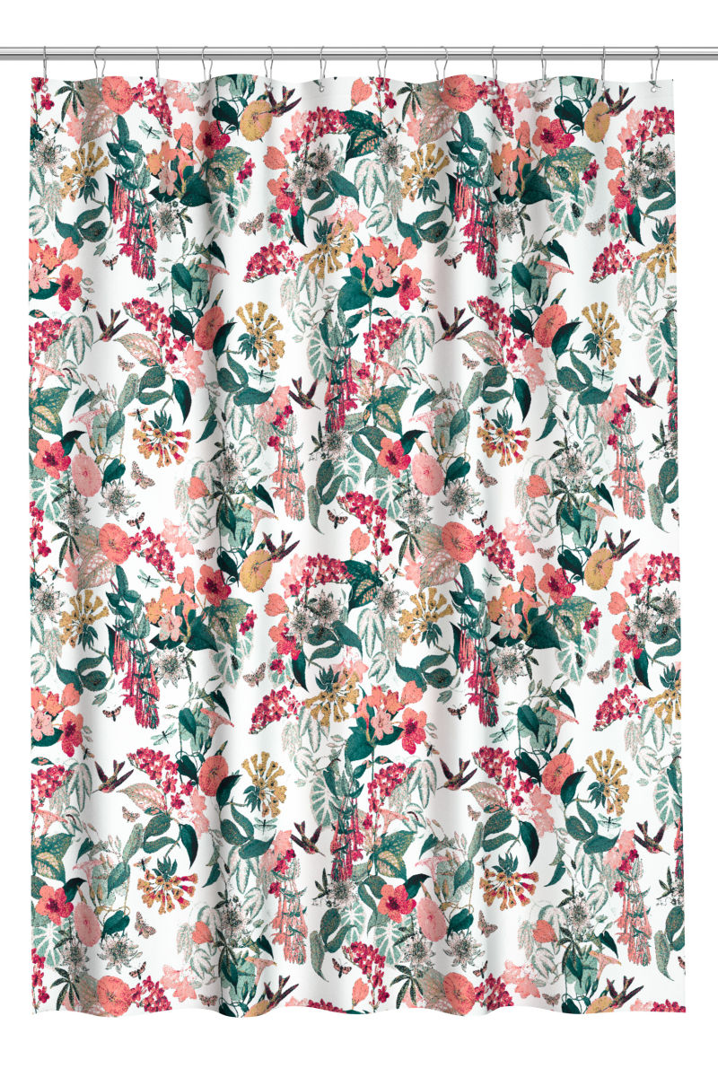 best towels bath accessories h&m home printed shower curtain