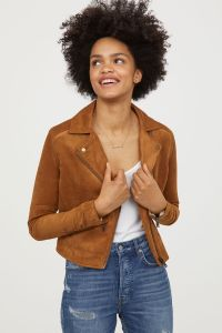 Suede Jacket Women's Faux Leather