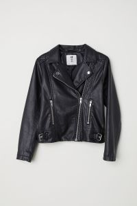 Motorcycle Jacket Vegan Leather H&M
