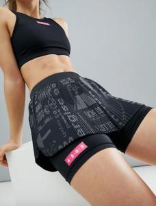 Black Running Skirt Shorts