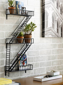 Metal Shelf Fire Escape