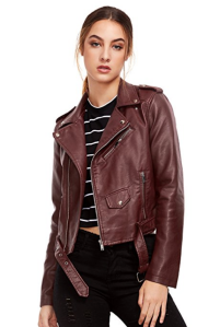 Brown Leather Jacket Faux Leather
