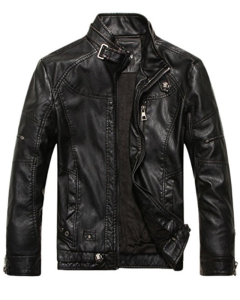 Black Leather Jacket Men's