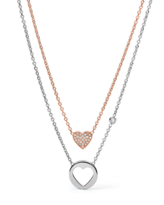Heart Necklace Crystal