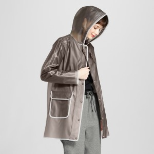 Gray Rain Coat Hunter Target