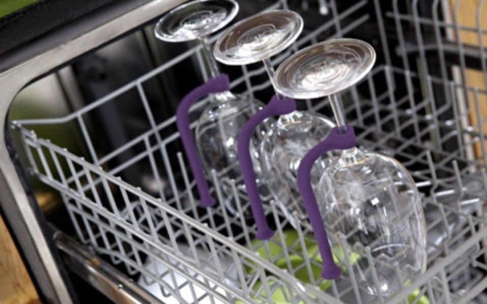 wine glass dishwasher tethers