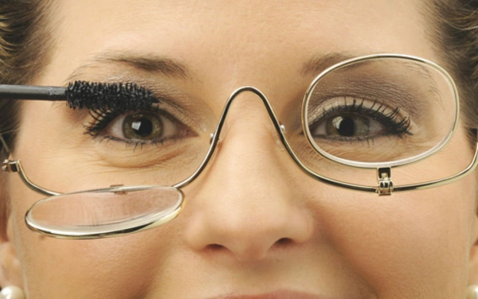 Makeup Eyeglasses Light up in the
