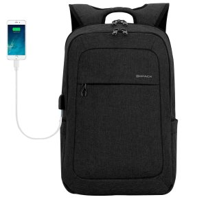 Black Backpack Charger Port