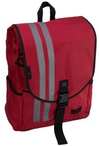 Red Backpack Messenger Bag