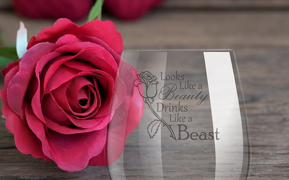 beauty and the beast glass