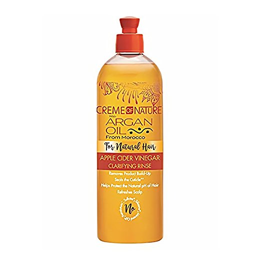 apple cider vinegar hair care trend argan oil creme of nature rinse