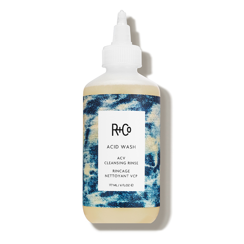 apple cider vinegar hair care trend R+Co acid wash cleansing rinse