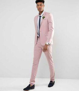 ASOS Wedding Skinny Suit Dusky Pink