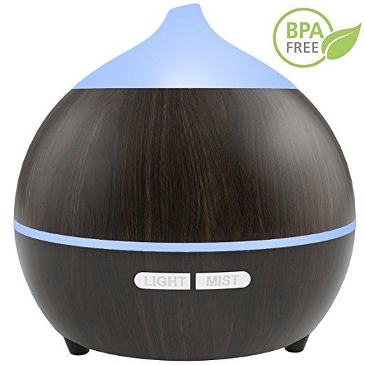essential oil diffusers under $25 best on Amazon soft digits dark wood ultrasonic cool mist