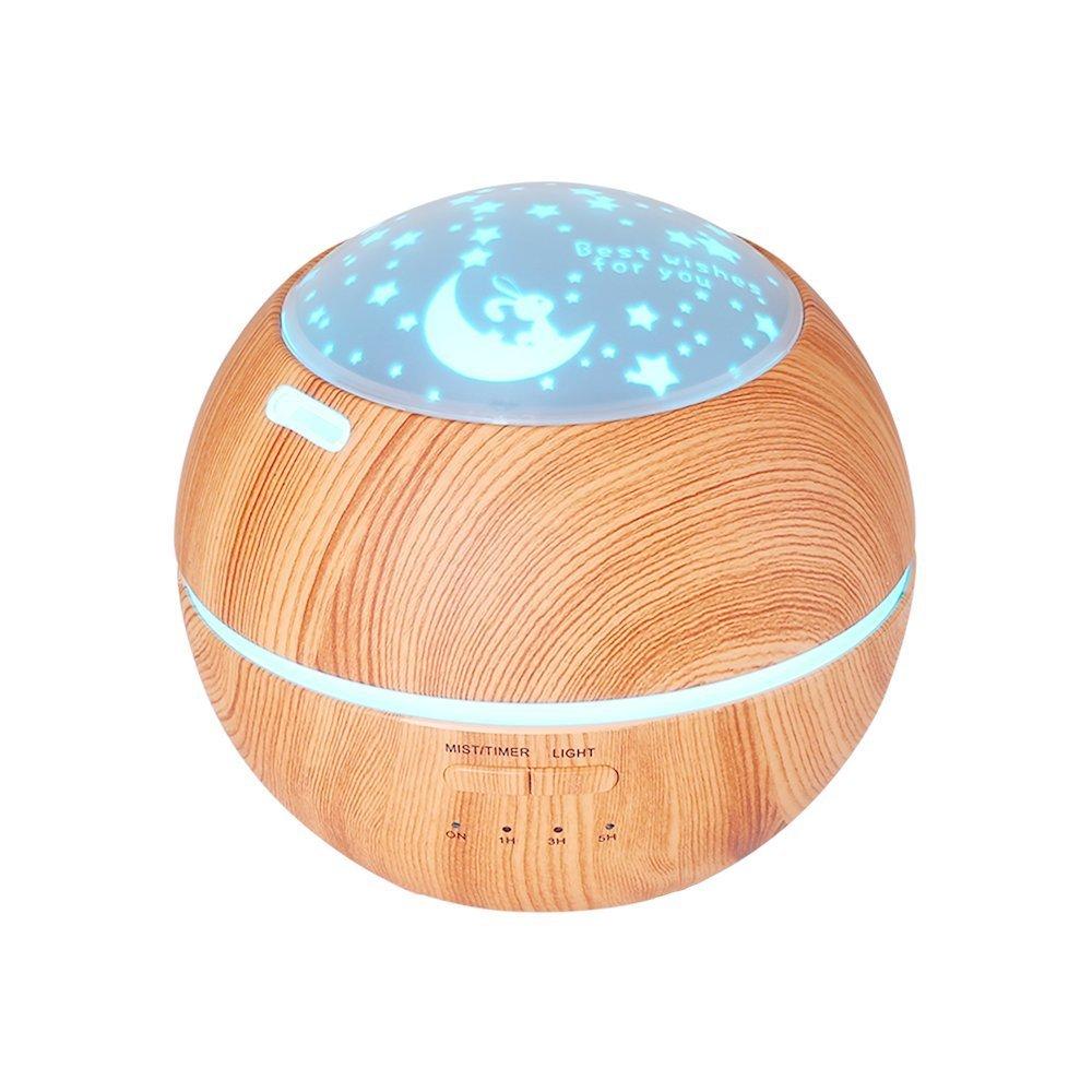 essential oil diffusers under $25 best on Amazon night light stars moon