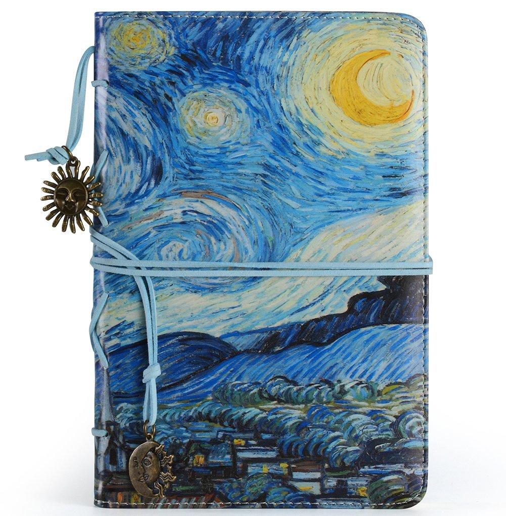 best journals under 25 bound diaries notebooks vintage starry night art sketch