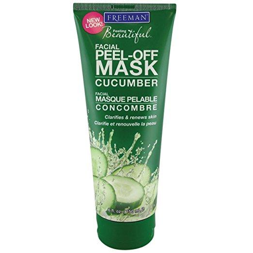 face mask best-selling options amazon under $25 freeman cucumber peel-off mask