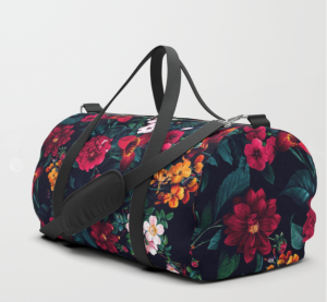 best floral print duffle bag