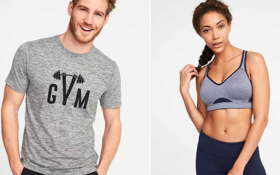 old navy workout clothes athleisure