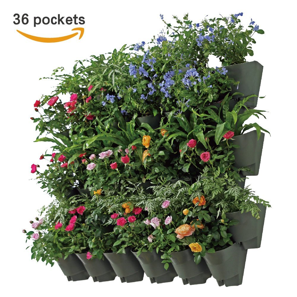 garden ideas small spaces growing 36 pocket wall hanging planter