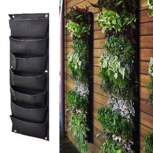 garden ideas small spaces growing 7 pocket wall hanging planter