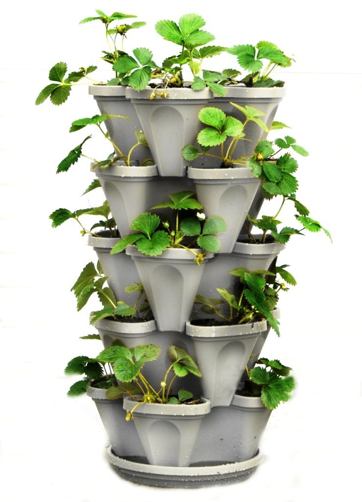 garden ideas small spaces growing 5 tier stackable garden
