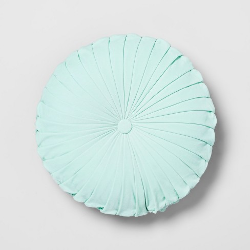 target furniture favorites home decor collection opalhouse pleated round throw pillow velvet