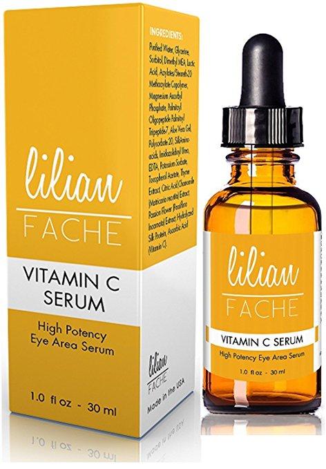 face serums best-selling vitamin C Amazon under $25 lillian fache eye area high potency