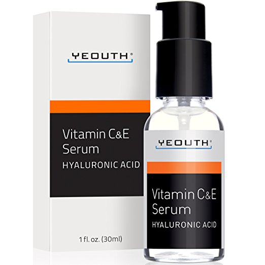 face serums best-selling vitamin C Amazon under $25 yeouth hyaluronic acid vitamin e