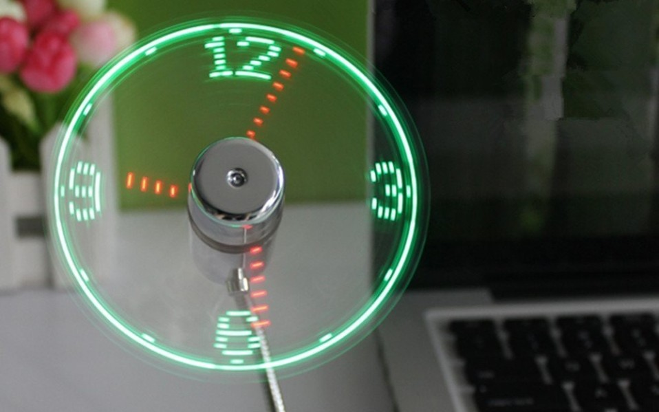 OneTwo LED Clock Fan