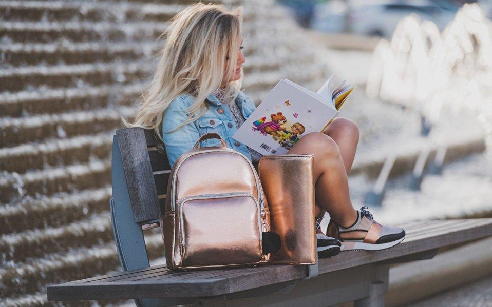 Rose Gold Diaper Bag Chirs Faberline