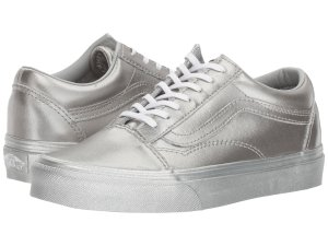 Silver Vans Old Skool