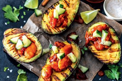 grilled avocadoes