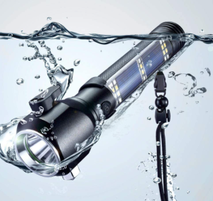Delxo Patriot Solar Flashlight
