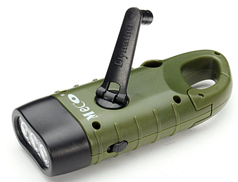 Meco Hand Cranking Solar Powered Flashlight