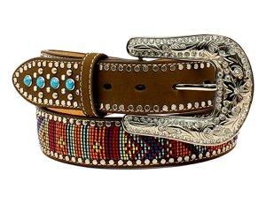 Blazin Roxx Women's Multicolored Pattern Stones Belt