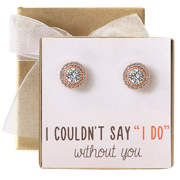 bridesmaid gifts under $50 earrings studs