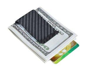 Carbon Fiber Wallet Money Clip Credit Card Holder