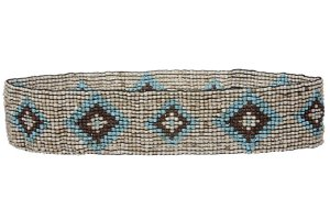 Diamond Pattern Southwest Beaded Stretch Belt