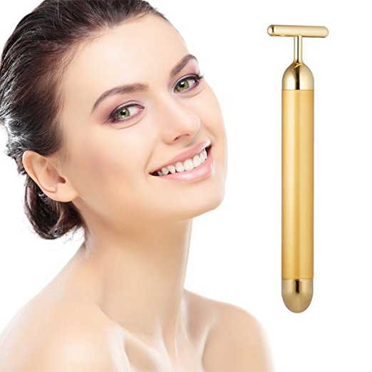 facial massager best-selling amazon under $50 gold anti-aging beauty bar pulse