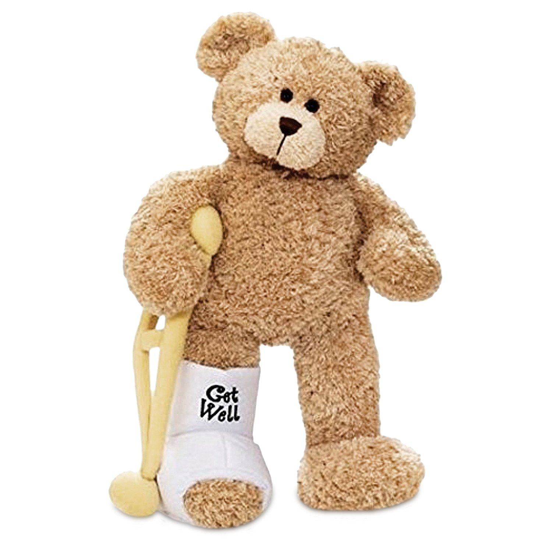get well soon best gifts to give sick friends broken leg bear teddy
