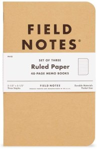 best gifts for writers - notebooks from Field Notes