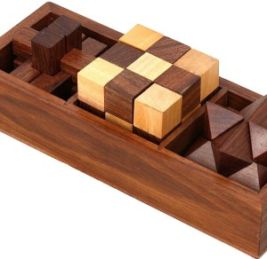 ShalinIndia 3 in One Wooden 3D Puzzle Set