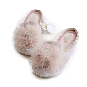 HALLUCI Women's Cozy Velvet Memory Foam House Slippers