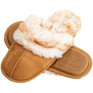 Jessica Simpson Faux Fur Slip On Women_s House Slipper