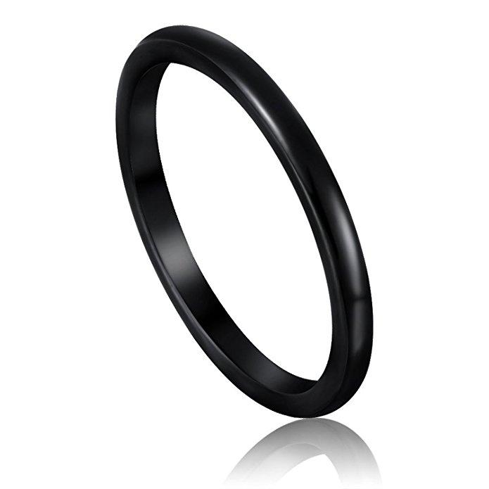 jewelry allergy alternatives nickel free somen tungsten wedding band ring black
